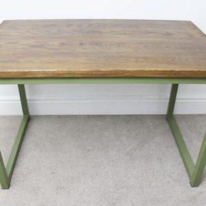olive green industrial office desks
