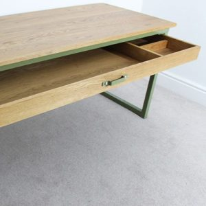 industrial desk with drawers