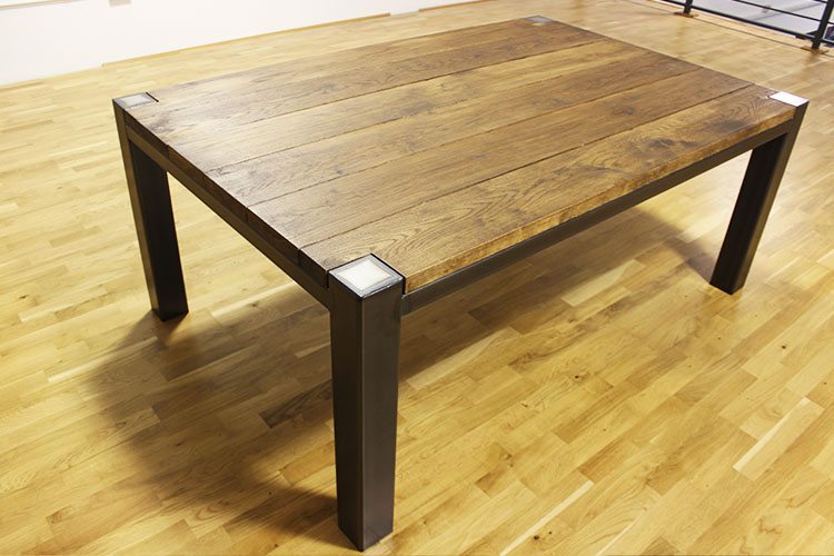 industrial oak dining table