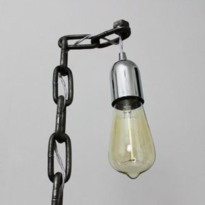 industrial chain table desk lamp edison bulb chain style