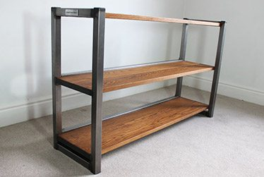 vintage industrial bookcases uk