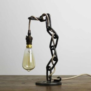 vintage industrial chain style table lamps ideal for the office desk