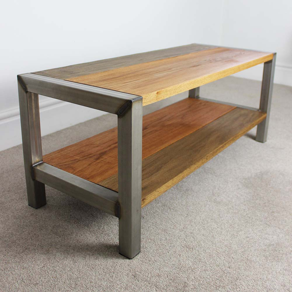 Jasveer industrial coffee table russell oak and steel ltd Industrial metal coffee table