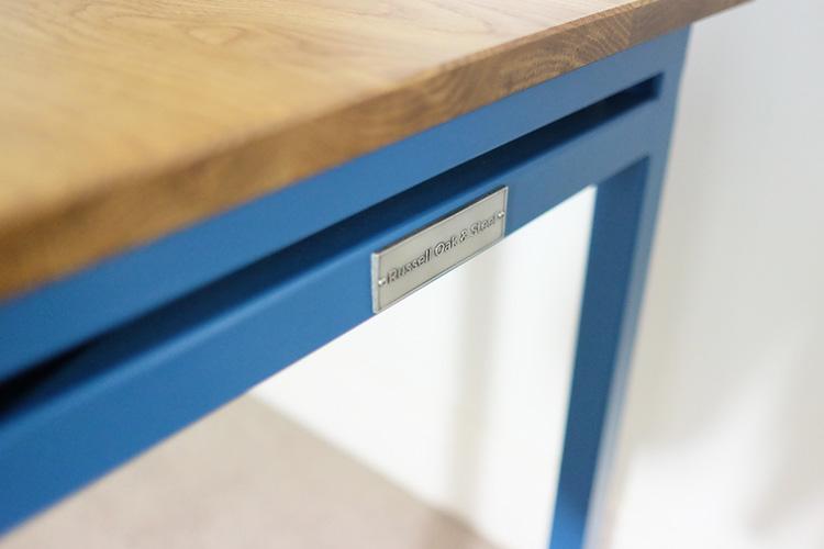 blue office desks