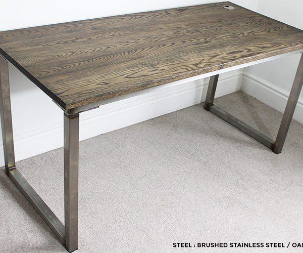 brushed ebony industrial style desk