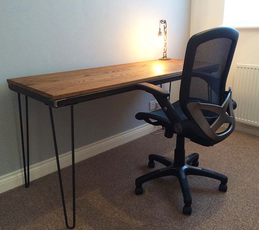 industrial hairpin desk andy