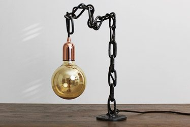 roll industrial table lamp