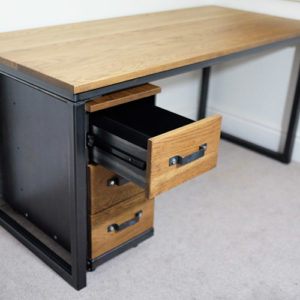 rustic desk with drawers