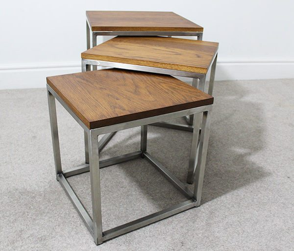 Mild Steel Coffee Table: Lewis Industrial Nest Of Tables