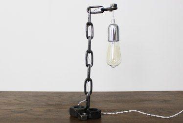 vintage industrial bedside lamp