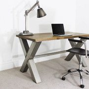 x frame industrial desk