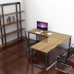 industrial corner desk