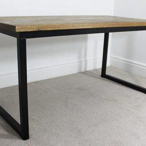 industrial desk black