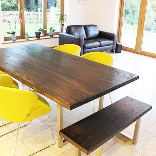 industrial dining table handmade