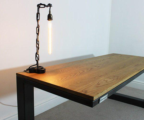 large industrial steel desks