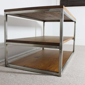 oak vintage tv table