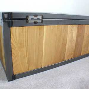 industrial oak chest trunk