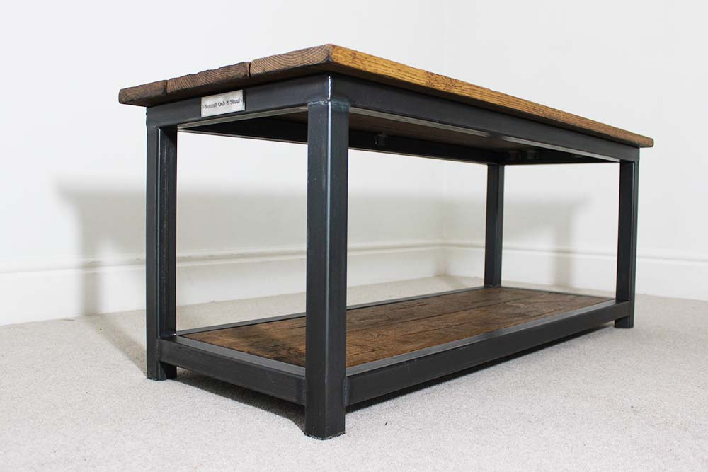 Custom vintage industrial coffee tables handmde in the uk