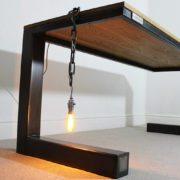 rustic industrial oak desk