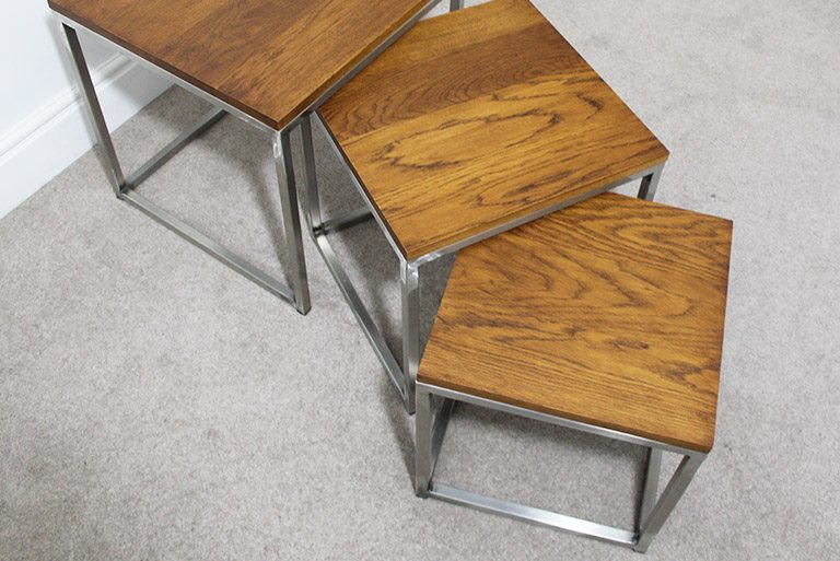 stainless steel industrial nest of tables