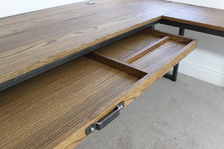 vintage corner desk