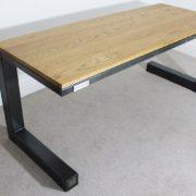 vintage industrial desk oak steel