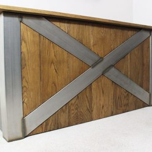 x frame vintage industrial desk