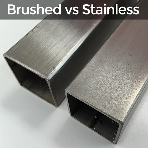 brushed stainless steel and normal steel