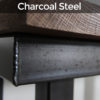 dark steel furniture