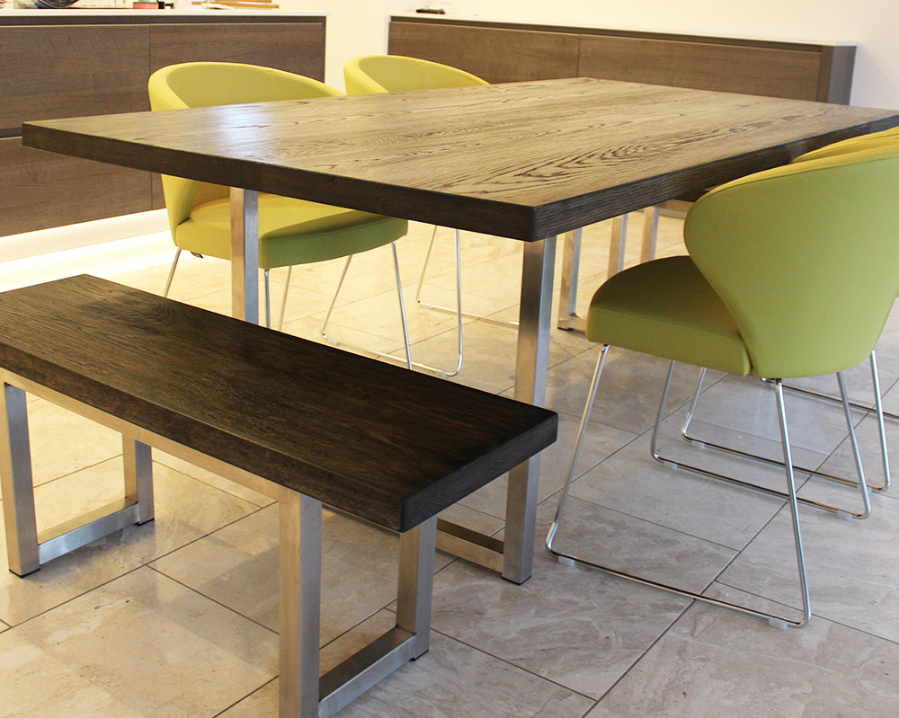 Smiths Industrial Dining Table Russell Oak And Steel Ltd