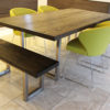 oak and steel dining table