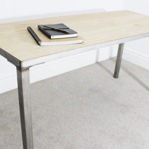 astaire oak and steel desk