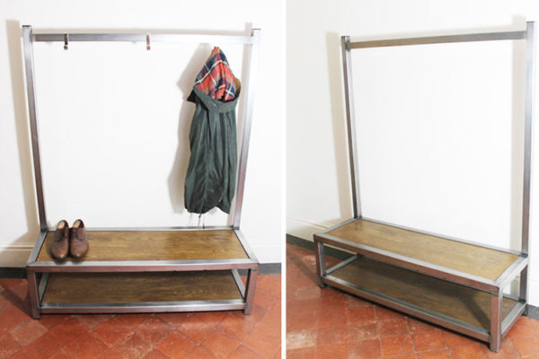 industrial coat bench