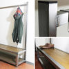industrial hallway bench