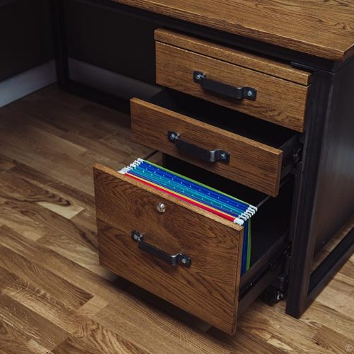 carsington industrial vintage oak metal drawers bespoke