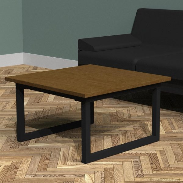 industrial square coffee table