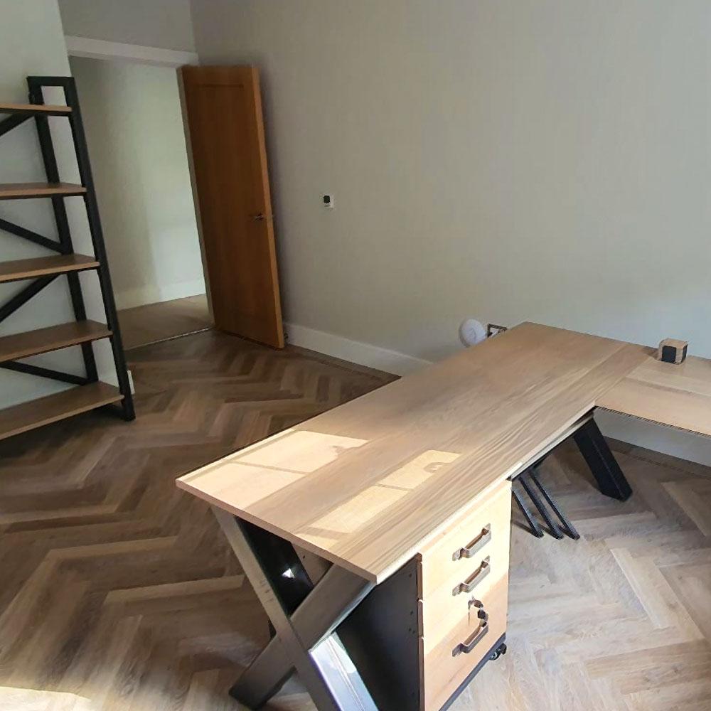 6ft x frame corner desk and bookcases