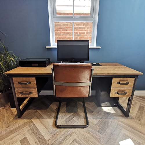 bespoke office with double drawers
