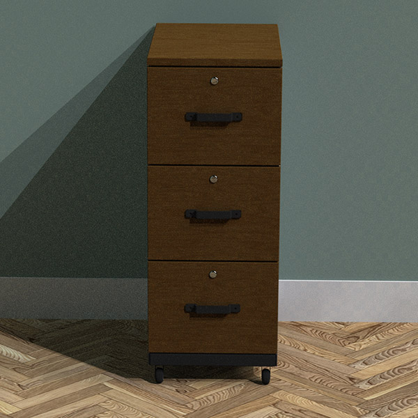 3 drawer tall filing cabinet
