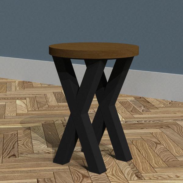 Industrial X-Frame Sofa Table