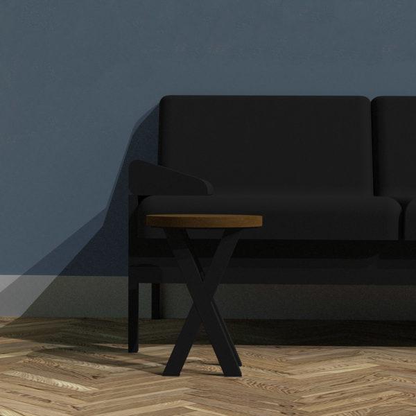 Vintage X-Frame Sofa Table