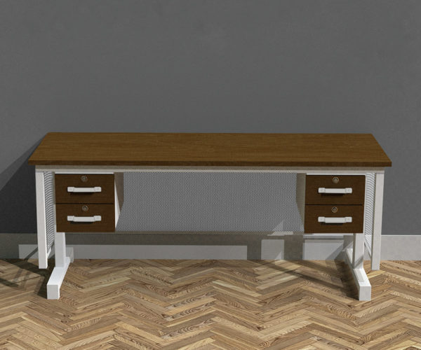 Industrial Vintage Electric Desk