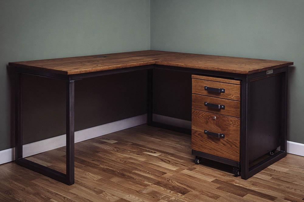 industrial l shape desks