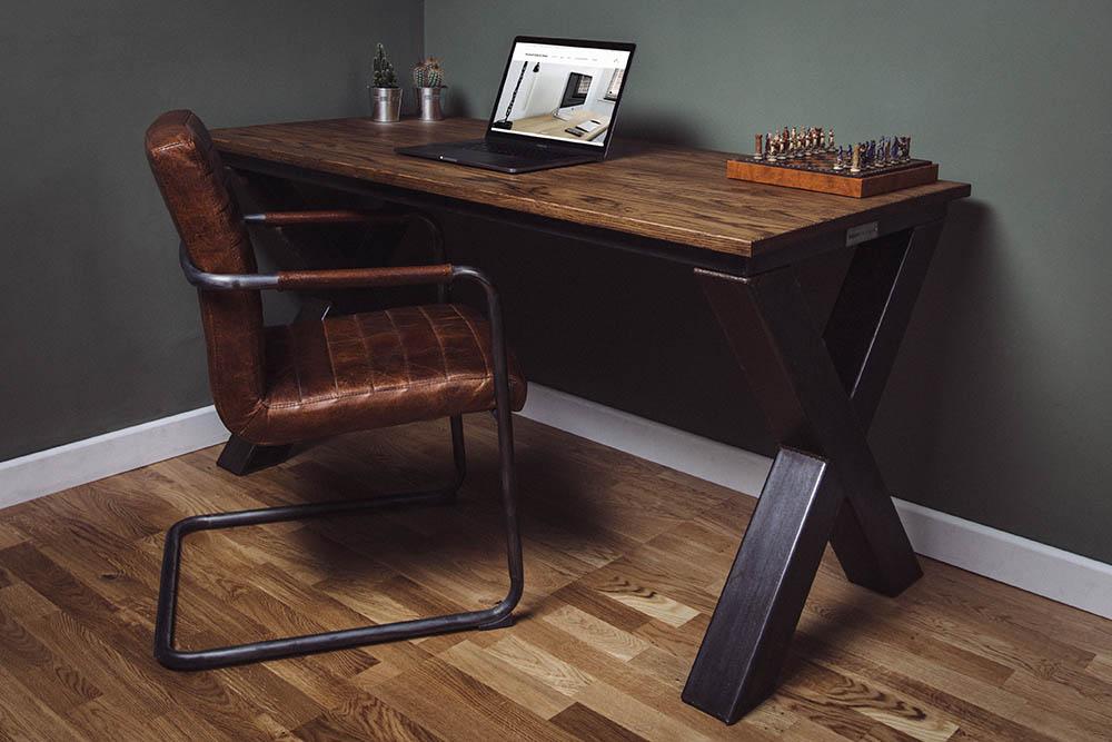 x frame industrial desks