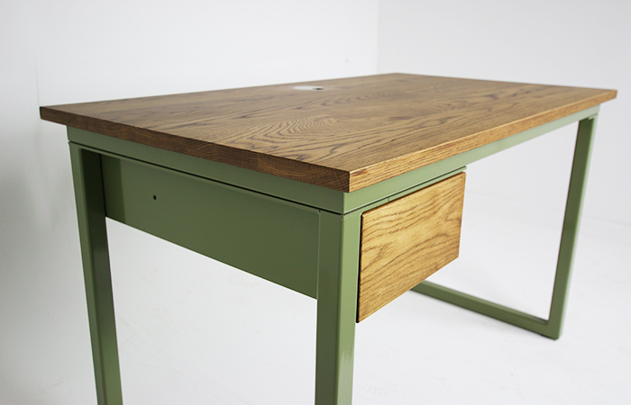 powder coated green office desk