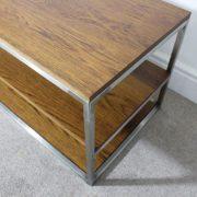 dark oak industrial tv table