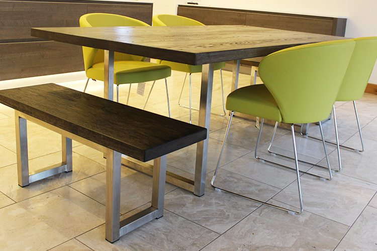Industrial style dining table