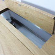 vintage industrial desk with storage
