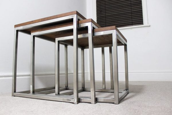 vintage industrial nest of tables