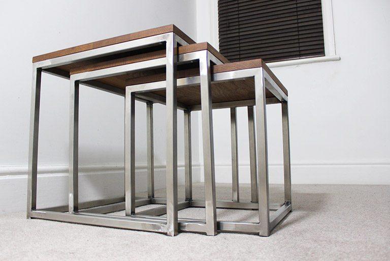 vintage industrial nest of tables